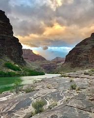 Headed to Vegas today to launch another river trip tomorrow! We might get some mixed weather this weekend. I'm kinda hoping we do, because it makes for the best pics, like this one I got 2 weeks ago during rainy weather. #grabdcanyon #coloradoriver #weath