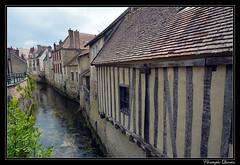 Châtillon-sur-Seine - Bords de Seine depuis la passerelle de l'ancien tacot