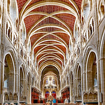 Interior Buckfast Abbey by Derek Dewey-Leader