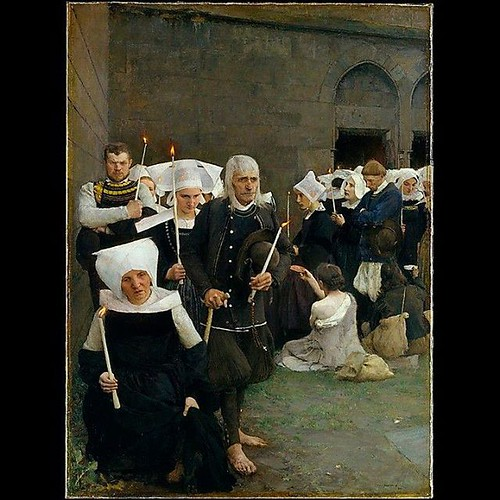 """The Pardon in Brittany""""1886 Pascal-Adolphe-Jean Dagnan-Bouveret..."""