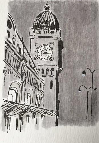 Gare de Lyon, d'après un dessin de Tardi