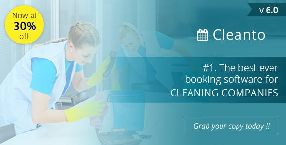 Cleanto v6.0 - software with booking system for cleaner service companies