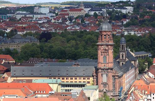 Neubaukirche - Blick von der Festung Würzburg