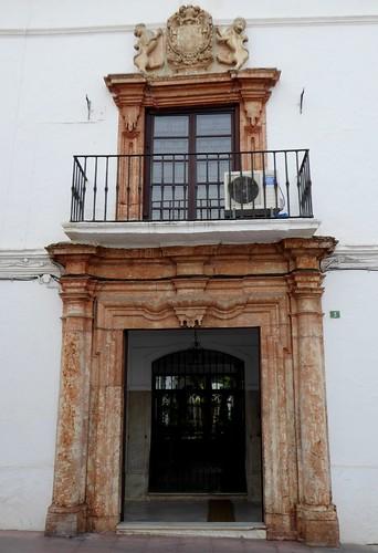 Lucena (Córdoba-España). Casa señorial del siglo XVIII. Portada