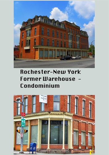 "Rochester New York -  St. Paul Quarters -  Once known as ""Clothier's Row."""