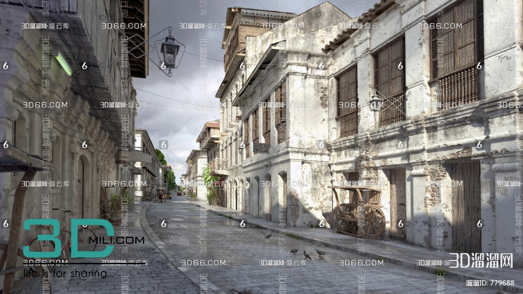 27 Exteriors Scense Free Download - 3D Mili - Download 3D Model