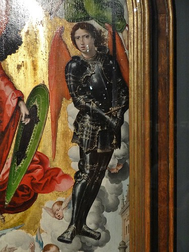 ca. 1521 - 'warrior angel, Appearance of St. Michael to Zechariah' (Master of St. Michael), Brussels, Hester Diamond Collection, New York, USA