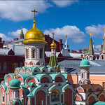 Russia. Moscow. Kazan Cathedral on Red Square.