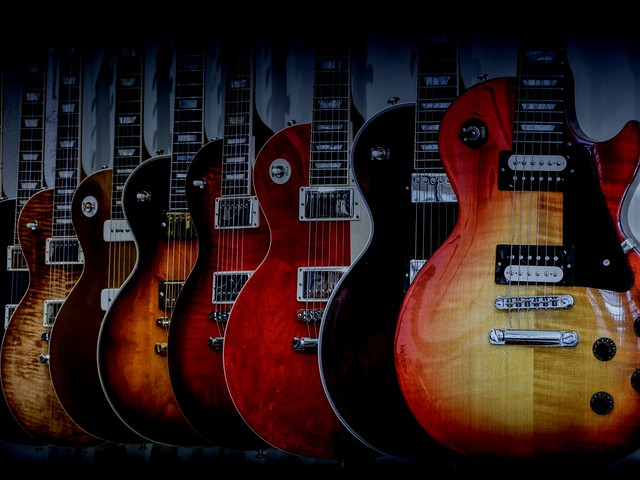 Guitars All In A Row