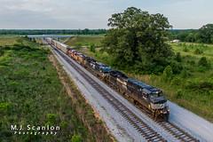 NS 9101   GE C44-9W   NS Memphis District West End