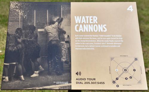 Bull Connor's 'Water Cannons' -- Interpretive Sign in Kelly Ingram Park Birmingham (AL) February 2019
