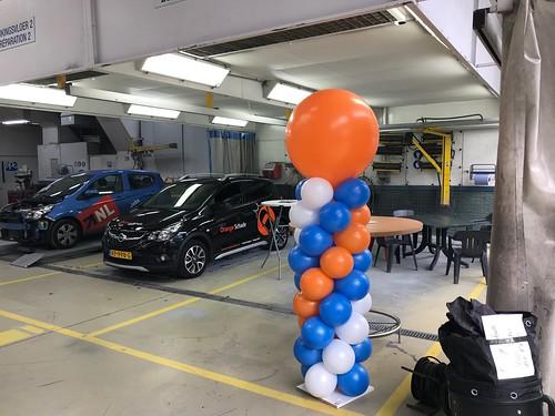 Ballonpilaar Breed Rond Orangeschade Vlaardingen