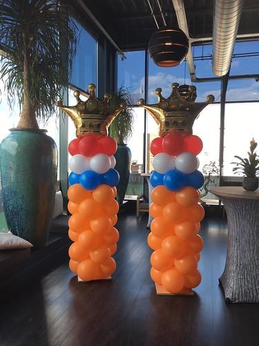 Ballonpilaar Breed Kroon Koningsdag Watertuin Spijkenisse