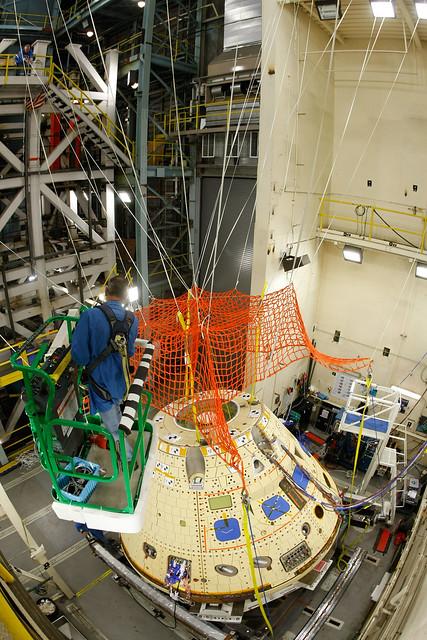 Orion Forward Bay Cover Jettison Test preparation