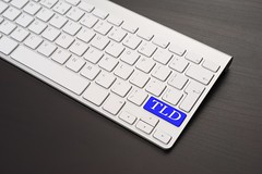 Keyboard With TLD Key in Blue