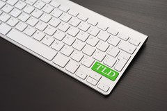 Keyboard With TLD Key in Green