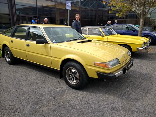 Rover SD 1 and Ford Capri at Cars & Coffee Dundalk.