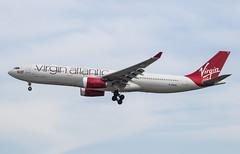 EGLL - Airbus A330-343E - Virgin Atlantic - G-VKSS / Mademoiselle Rouge