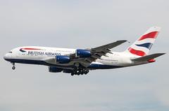 EGLL - Airbus A380-841 - British Airways - G-XLEG