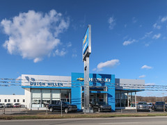 Image by Tim Kiser (timboduke) and image name Chevrolet trucklots as pretty as skies. photo  about In Huntington, West Virginia, on December 24th, 2018, Dutch Miller Chevrolet on the north side of Washington Avenue (U.S. Route 60) between 11th Street West and 12th Street West.  -----------------------  Getty Thesaurus of Geographic Names terms: • Cabell (county) (2002257) • Huntington (7013731)