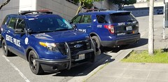 Pair of Seattle Police Ford Interceptor Utilities