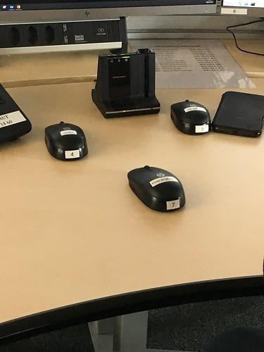 Viele Mäuse auf dem Pult...