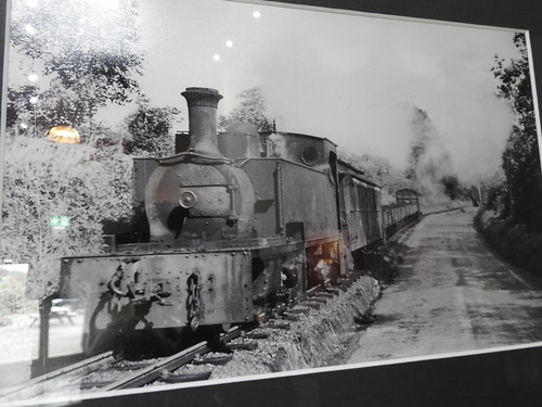 Old pictrue of a steam train taking the coal away from the mountain. Arigna Mining Experience