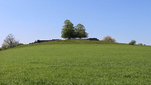Blick zur Anlage des Kastell Irgenhausen