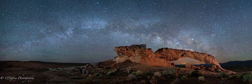 The Milky Way and Sunset Arch Converge
