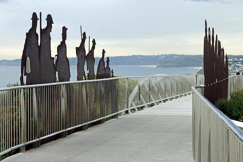 Newcastle Memorial Walk - Walking the duckboards
