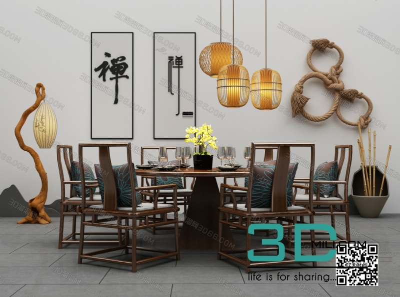 Collections table and chair 3D66 part 2 7