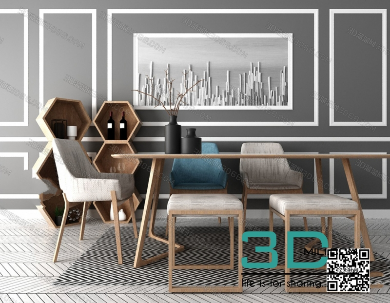 Collections table and chair 3D66 part 2 13