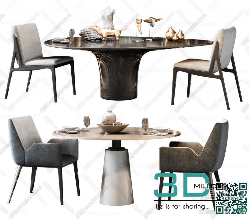 Collections table and chair 3D66 part 3 51