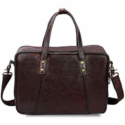 Vintage Leather Tote Briefcase Handbag 15.6-inch Laptop Tote Bag Mens Leather Messenger Bag Briefcase Color : Brown #luggage&travelgear #travelgearluggagetarget #travelgearluggagebrand #everestluggagetravelgearbag-xlarge #everestluggagetravelgearbag-xlarg