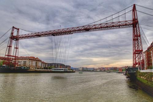 Puente Vizcaya. Getxo, Biscay Province, Spain
