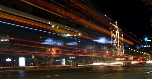 Night walk ( cropped image )