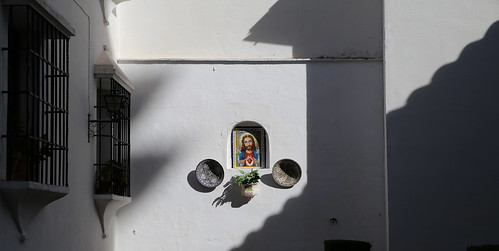 Religious ceramic tile with Jesus Christ in Ronda