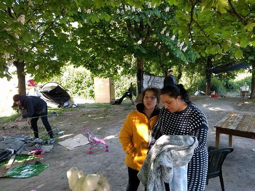 évacuation camp migrants