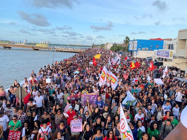 Maranhenses lotaram as ruas da capital São Luís nesta quarta-feira (15) - Créditos: Divulgação