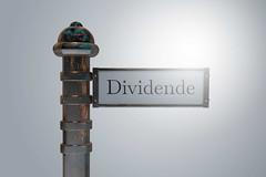 Dividende-auf-Wegweiser-Schild