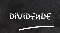 Dividende-auf-Tafel