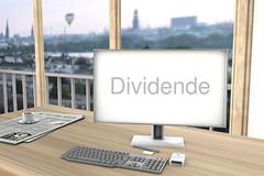 Dividende-auf-Bildschirm