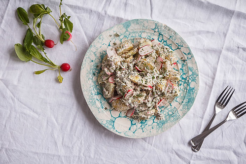 Potato Radish Salad with Dill and Chive