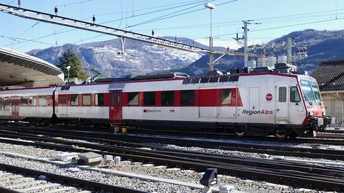 train RER Valais Region Alps Sion Switzerland