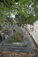 La tombe d'Andrei Tarkovski au Cimetière russe de Sainte-Geneviève-des-Bois