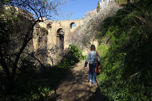 Kanitha walking the Camino de los Molinos