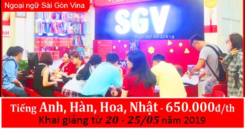 SGV - Khai giảng khóa học tiếng Anh, Hàn, Hoa, Nhật
