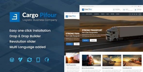 Pifour v2.3 - Logistic and Transportation WordPress Theme