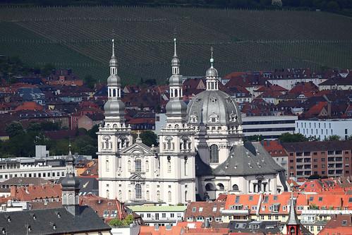 Kollegiatstift Haug - Blick von der Festung Würzburg