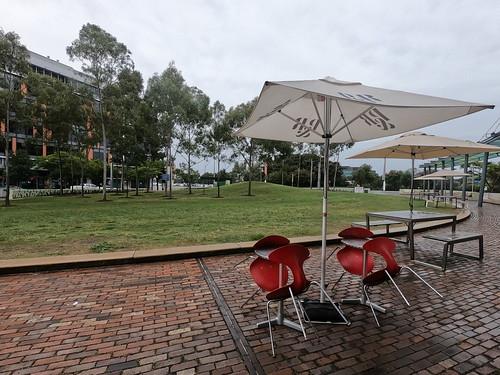 Public space outside Olympic Park Station, Sydney